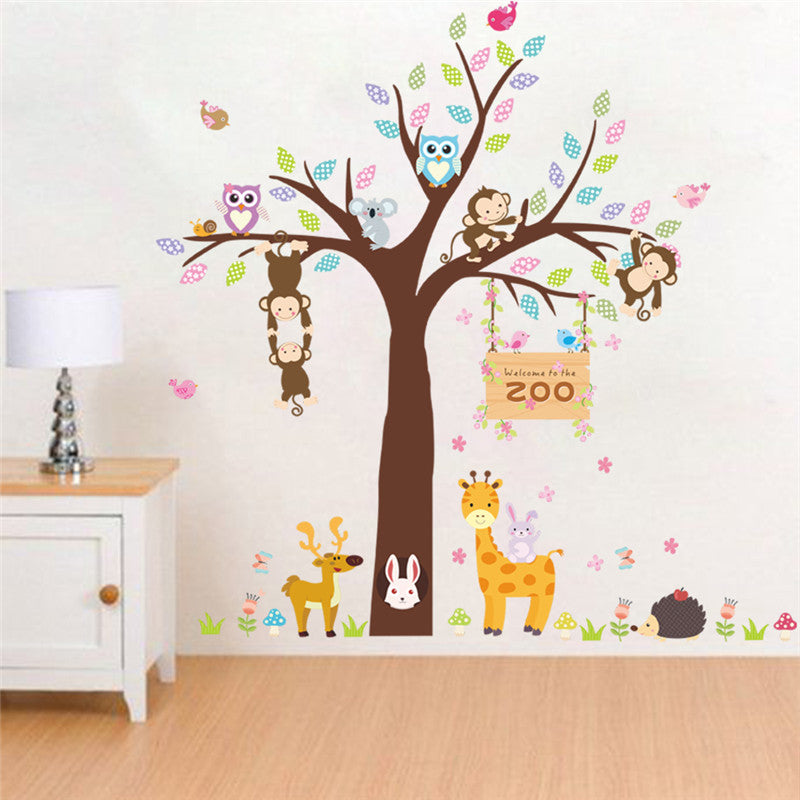adorbale zoo animals wall stickers for kids room! | mami mommy