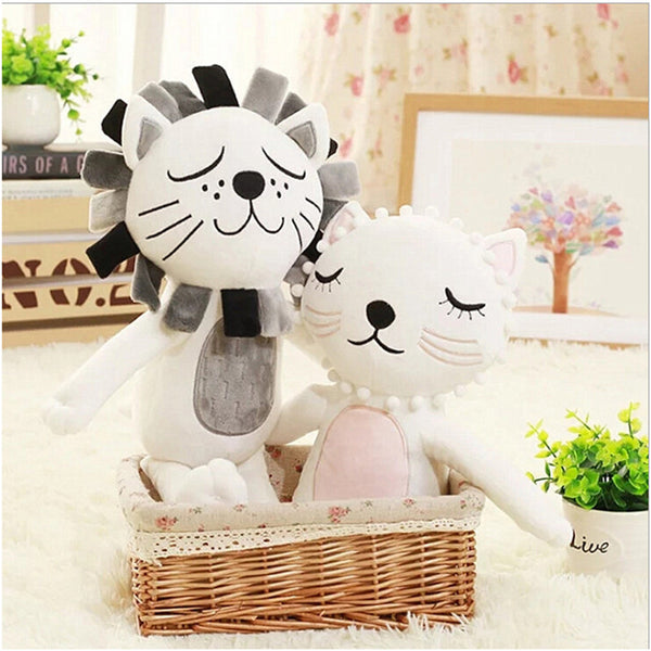 Adorable Beautiful Soft Lion & Cat Plush Toy For Child - Mamimommy.net