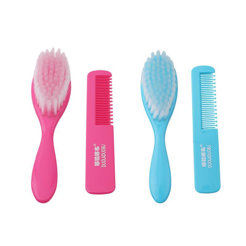Soft Baby Plastic Hair Brush Set - Mamimommy.net