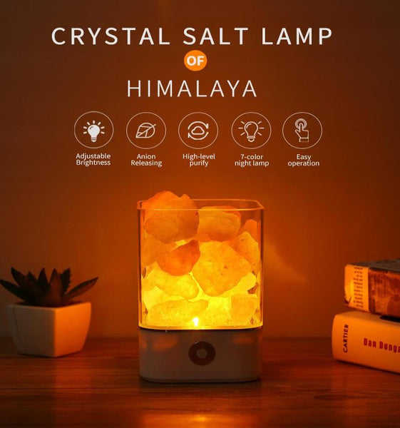 Square Design Crystal Natural Salt Lamp of Himalaya - Mamimommy.net
