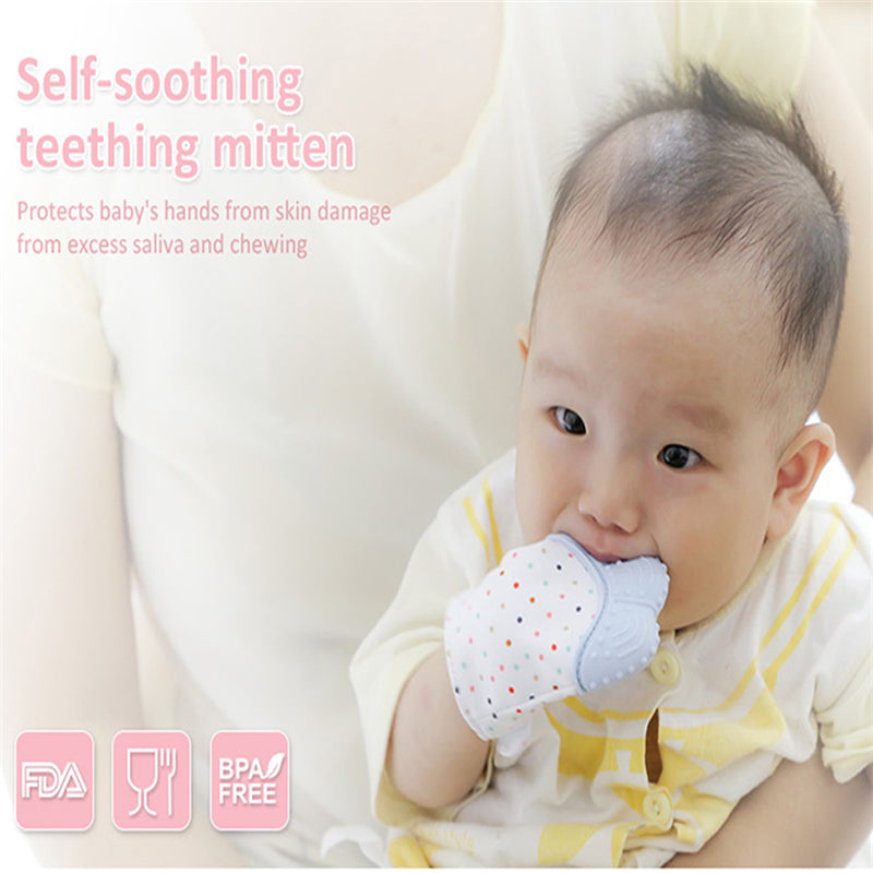Baby Chewable Teether Glove , Natural Thumb.