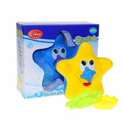 Adorable Water Bath Toy With Colorful Starfish Figure For child's