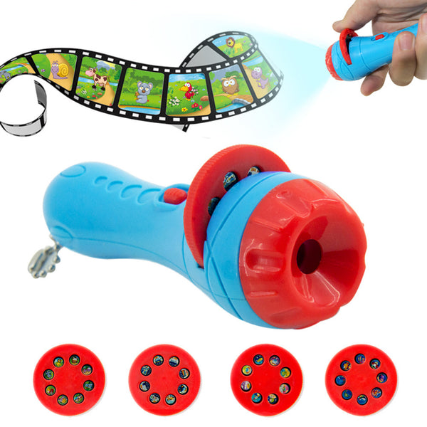 Amazing Flashlight Projector Slide Equipment For Baby Sleep Story with