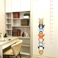 Forest animals height measure wall sticker This cute decorative wall sticker with a GROWTH CHART will brighten up any room. Instantly transform a plain surface into something unique and fabulous in minutes.