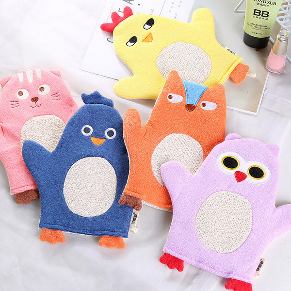 Colourful Animals Cartoon Soft Baby Bath Brush.