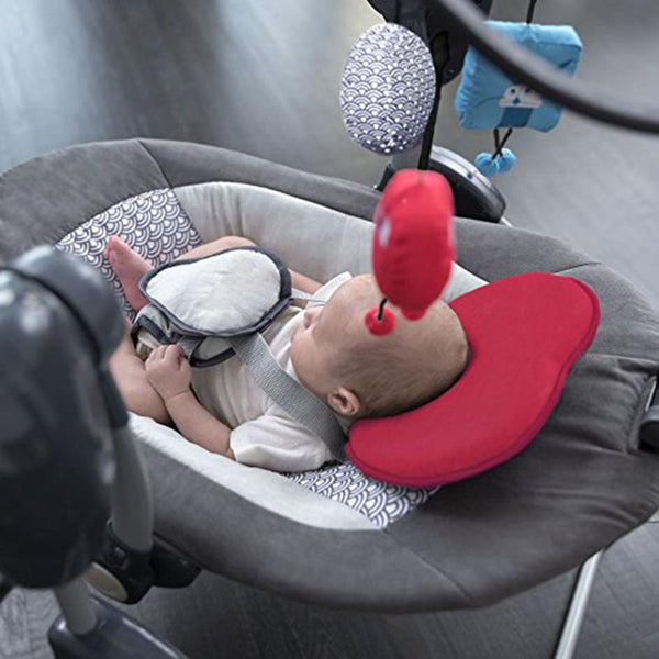 ADORABLE Infant head support shaped pillow to prevent flat head.