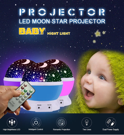 Cool LED Rotating Star Projector This star projector supports 5-95 minutes to set the time control as your preference that would not disturb you or your baby's sleep and provide a better choice during the baby's sleep time.