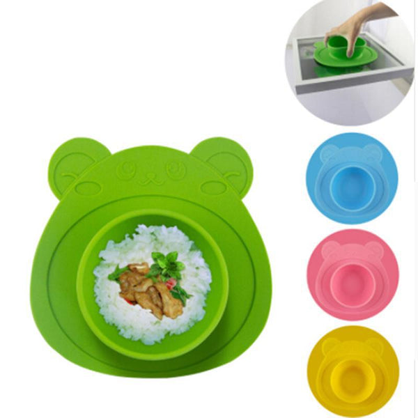Baby Plate 100% Silicone  Bowl With Suction Cup