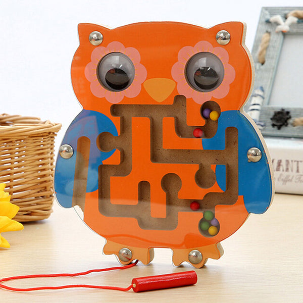 Kids Wooden Puzzle with Magnetic Maze.