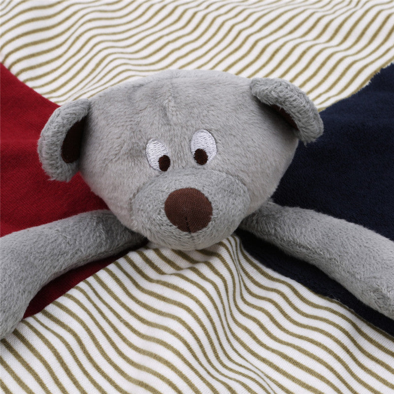 Soft animal plush toy with care blanket, will give your child endless joy.