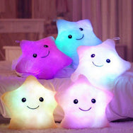 Beautiful Led Light Star Form Plush Pillow For Children's - Mamimommy