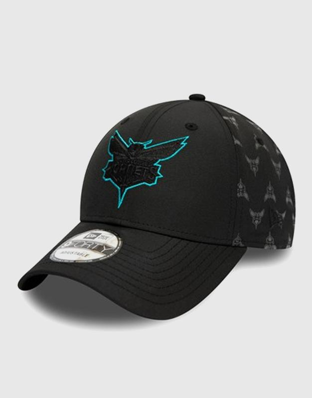New Era New Era Charlotte Hornets Nylon Black 9FORTY Cap ניו ארה כובע
