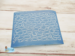 stepping stone polymer clay silkscreen