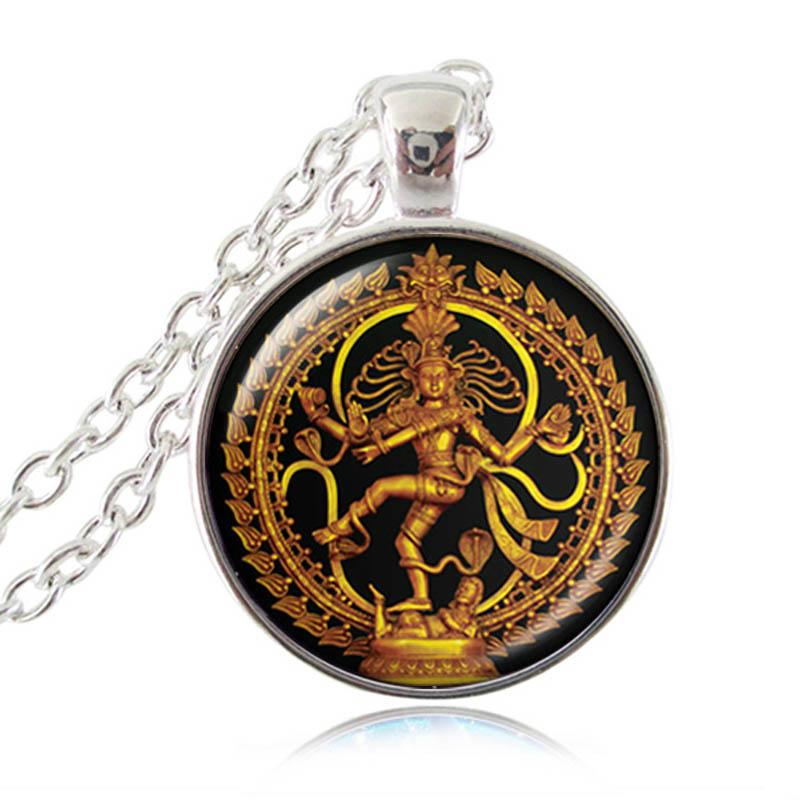 Golden Dancing Shiva Necklace