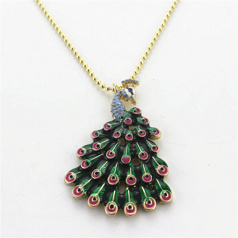 Elegant Peacock Necklace
