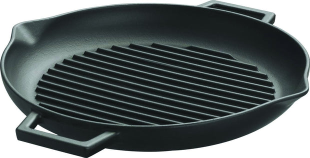 "Kitchen - Lava 10"" Round Grill Pan With Pour Spouts"