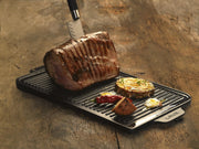 REVERSIBLE GRILL & GRIDDLE PLATE  W/ HANDLES  | ENAMELED CAST IRON | LAVA CANADA