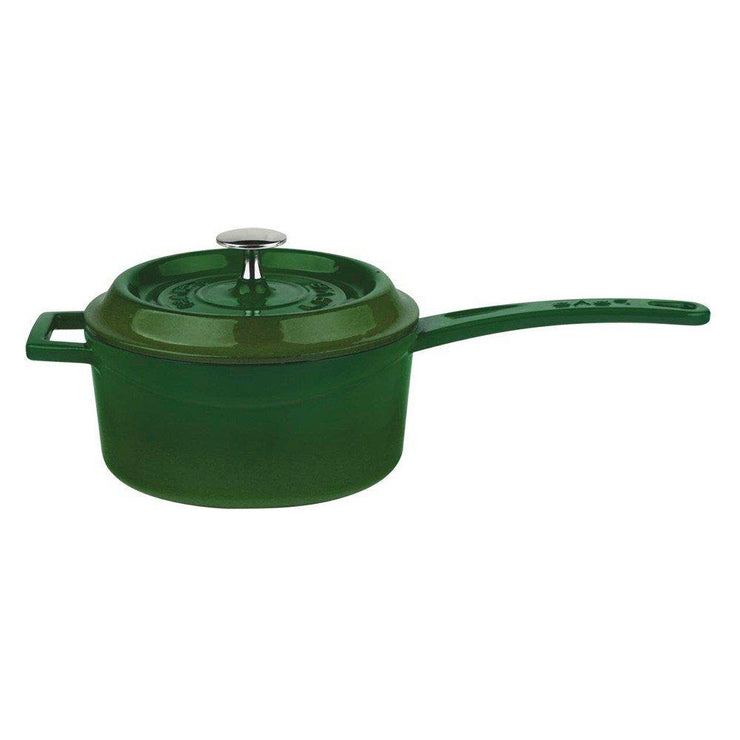 Kitchen - Lava Enameled Cast-Iron Sauce Pan With Iron Handle, 1-Quart