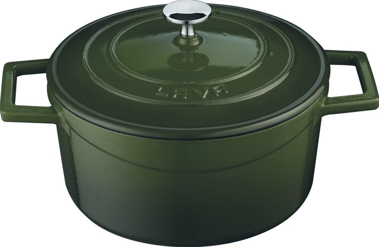LAVA ENAMELED ROUND DUTCH OVENS