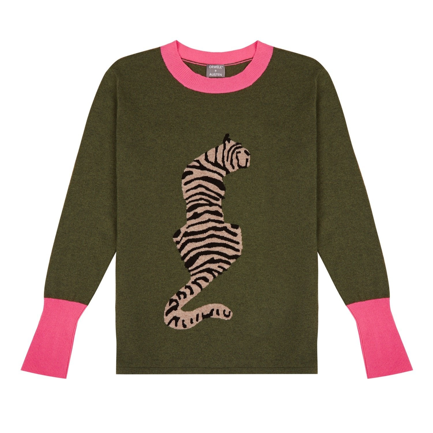 Tiger Stripe Cashmere Blend Sweater