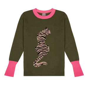 Tiger Stripe Cashmere Blend Sweater | COMING BACK SOON - Orwell + Austen