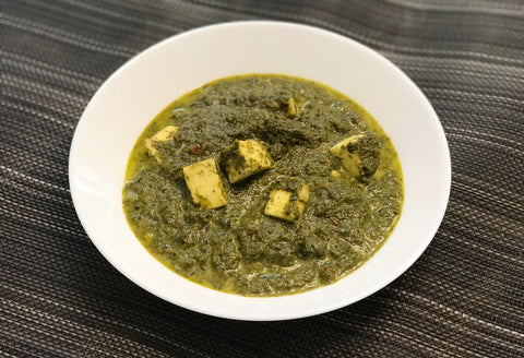 Saag Paneer (Indian Spinach and Cheese Curry)