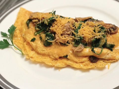 Spinach and Mushroom Omlette