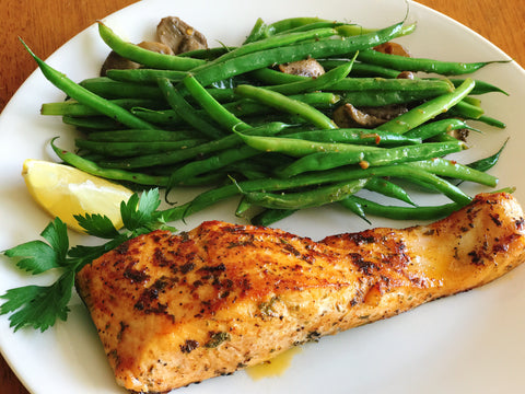 Salmon and Haricot Verts