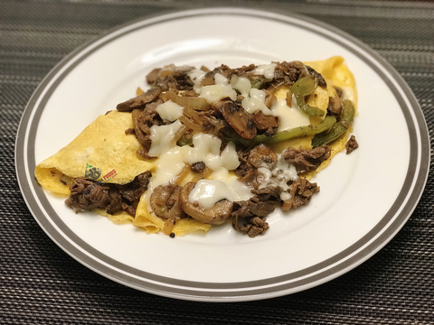 Philly Cheese Steak Omlette