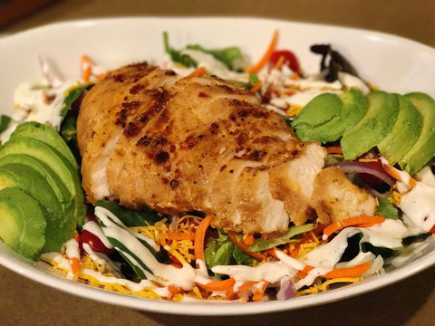 Grilled Chicken and Avocado Garden Salad