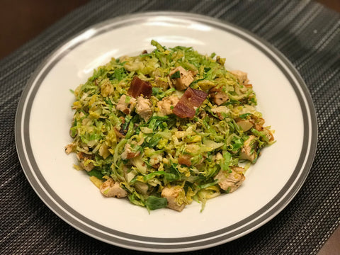 Warm Chicken and Brussel Sprout Salad