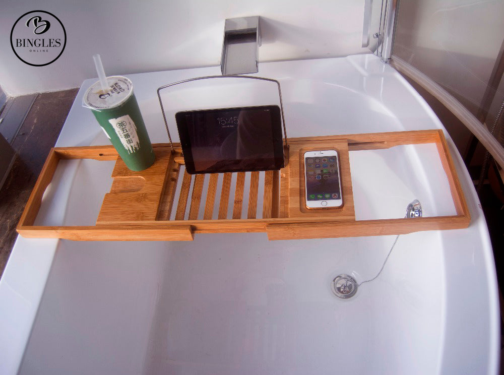 Expandable Bamboo Bathtub Caddy – Bingles Online