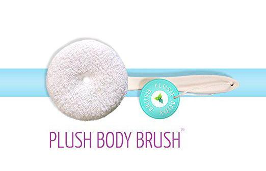 Plush Body Brush to replace your Loofah made from 100% real cotton