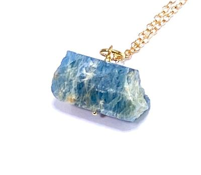 Raw Aquamarine Crystal Pendant