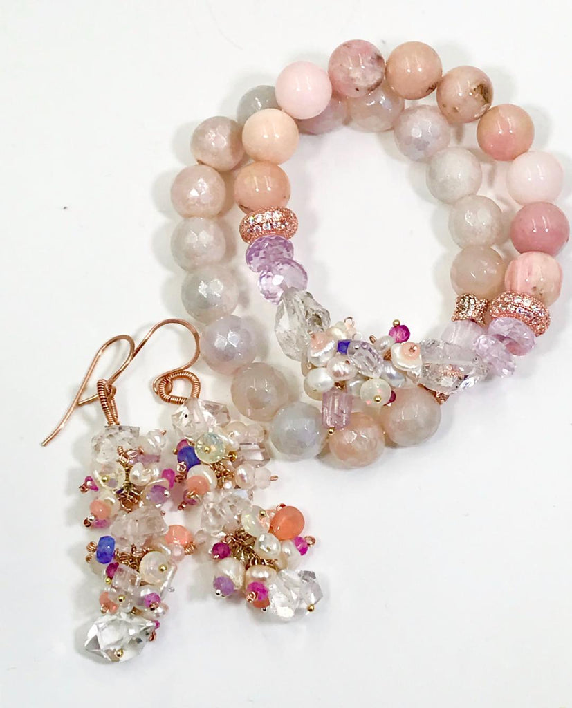 CUSTOM ORDER for MJ - Custom Bracelet with Kunzite - doolittlejewelry