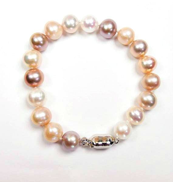 Sterling Silver and Blush Pearl Bracelet - doolittlejewelry