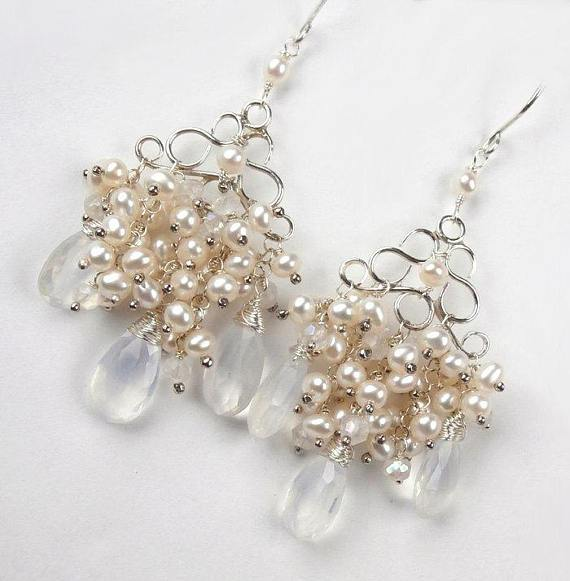 Pearl Chandelier Earrings - doolittlejewelry