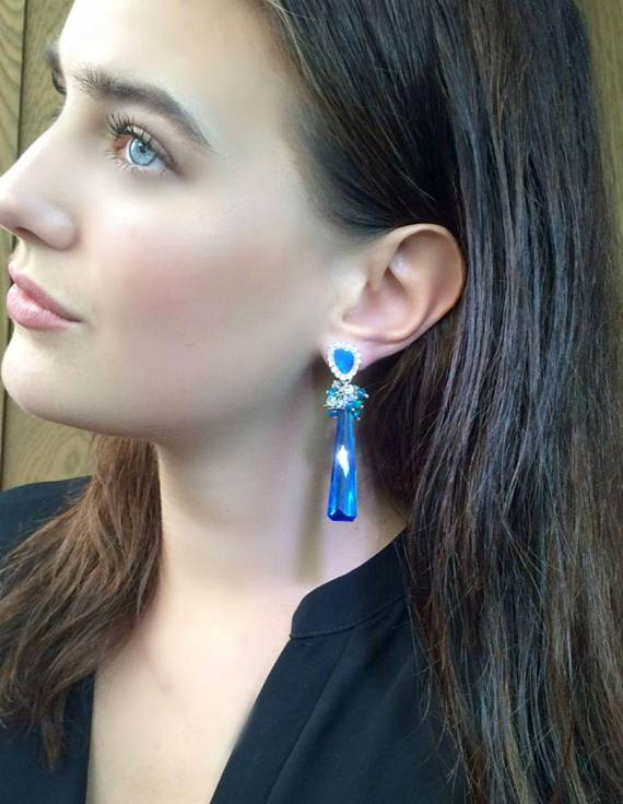 Australian Opal Earrings with Lightning Ridge - doolittlejewelry