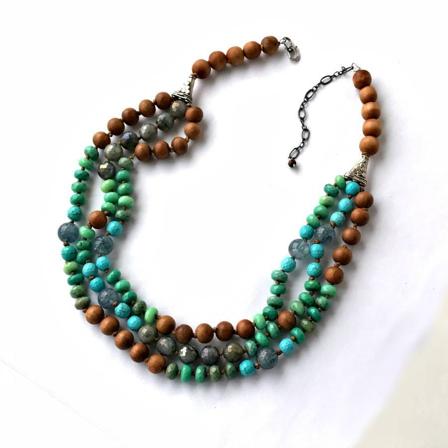 Multistrand Turquoise Gemstone Necklace - doolittlejewelry