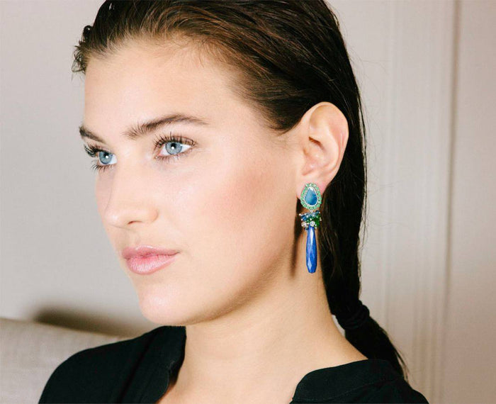 Australian Black Opal Gemstone Earrings - doolittlejewelry