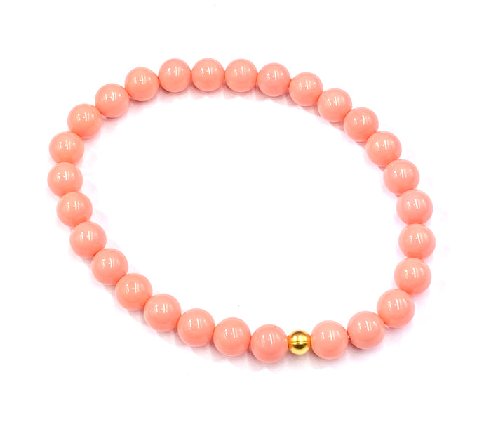 Reserved for Heather - Coral Stretch Bracelet