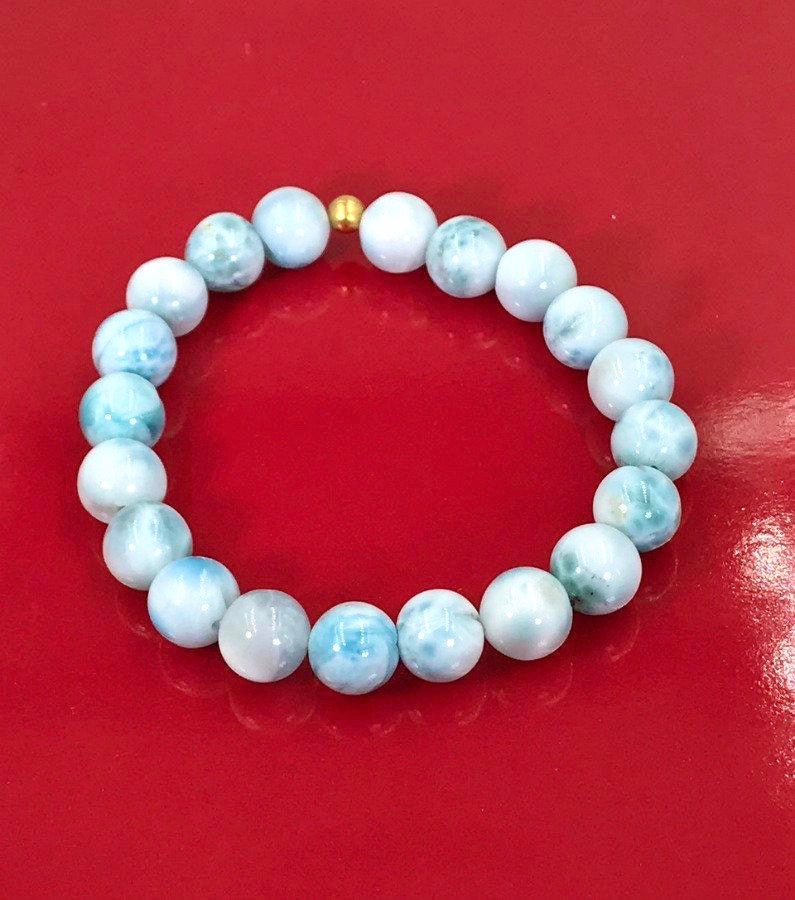 Larimar Stretch and Stacking Bead Bracelet - doolittlejewelry