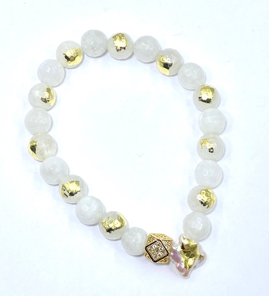 Custom Order for MJ - Moonstone Bracelet - doolittlejewelry