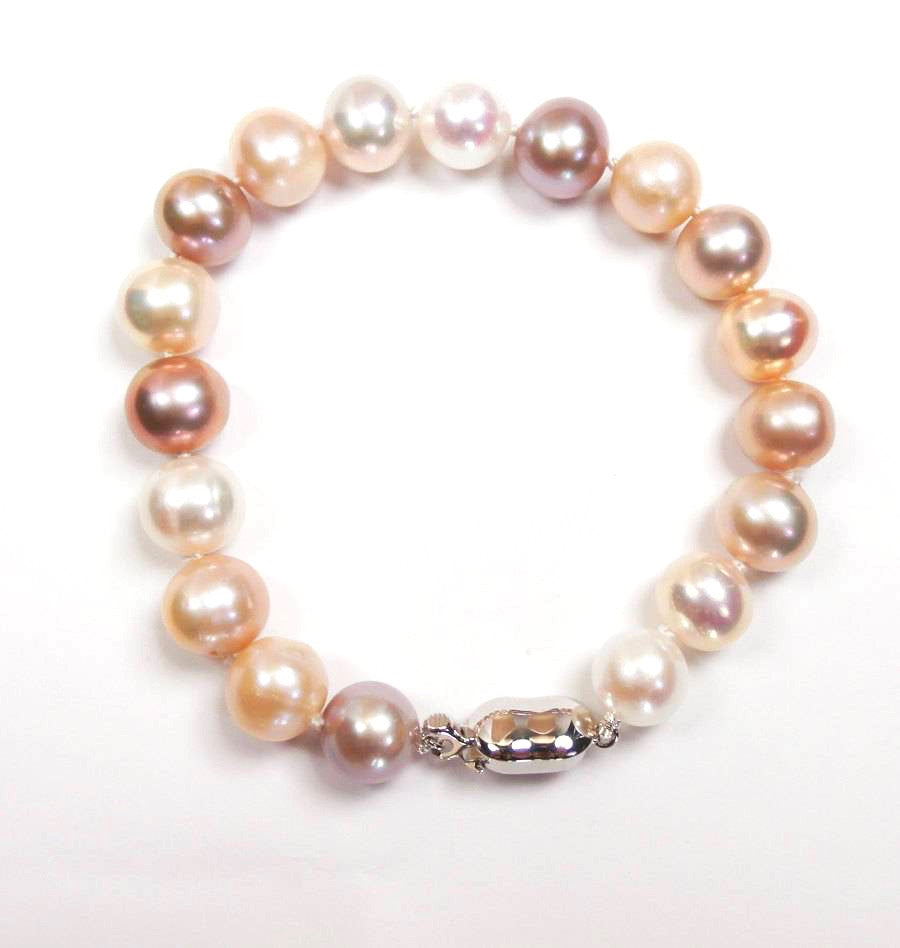 Sterling Silver and Blush Pearl Bracelet