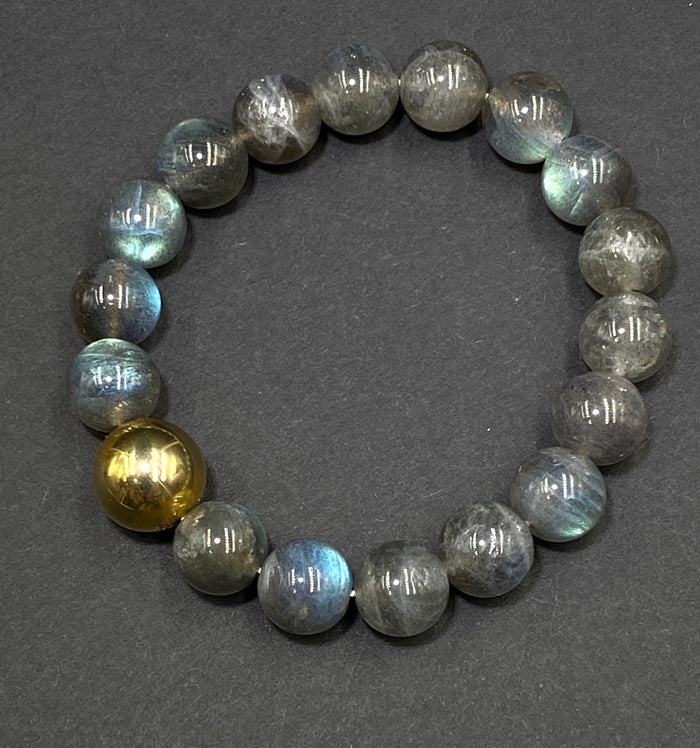 Labradorite Stretch Stacking Bracelet