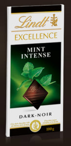 Lindt Excellence Mint Intense Dark Chocolate