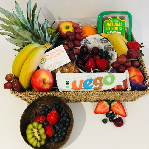 Deluxe Vegan Treats Fruit Basket