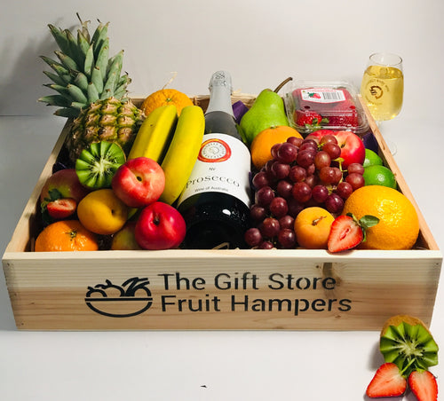 Large Gourmet Fruit Hamper With Prosecco