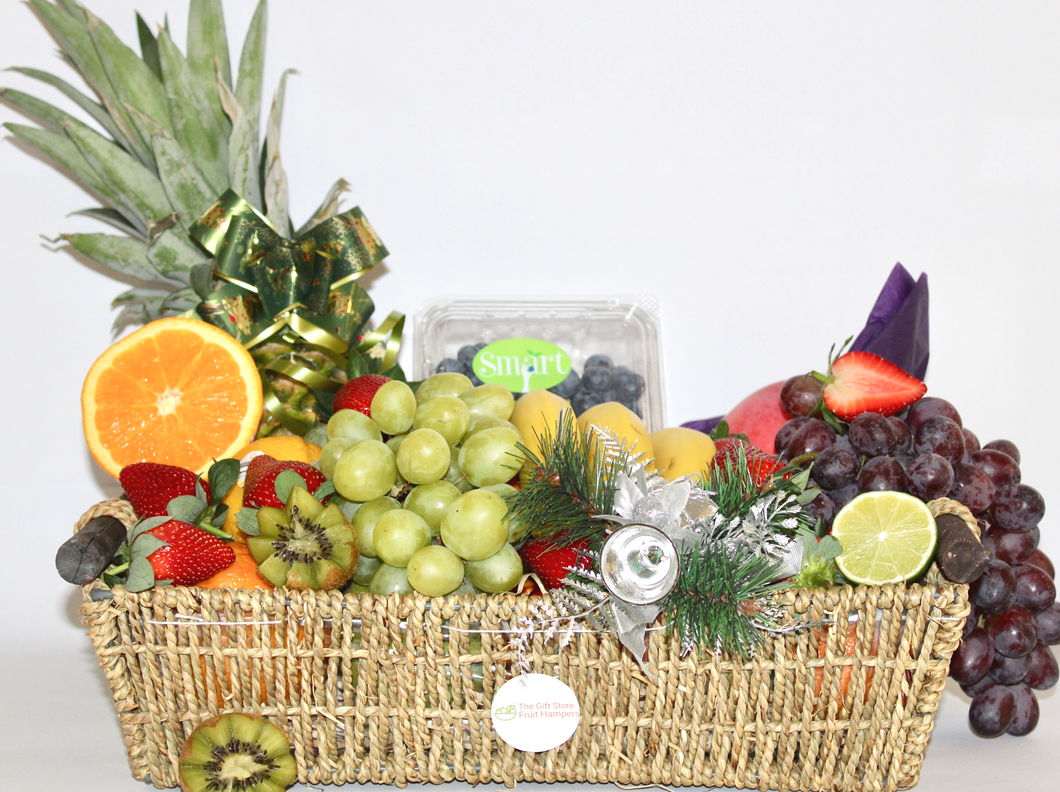 Happy Holidays Fruit Basket