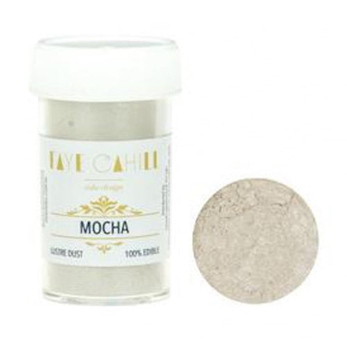 FAYE CAHILL MOCHA 22ml Luxury Edible Lustre Dust Icing Colour